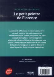 Le petit peintre de Florence - 4ème de couverture - Format classique