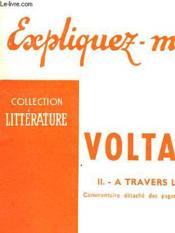 Voltaire - Ii - A Travers L'Oeuvre - Couverture - Format classique