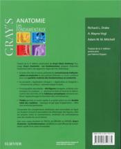 Gray's anatomie - les fondamentaux - 4ème de couverture - Format classique