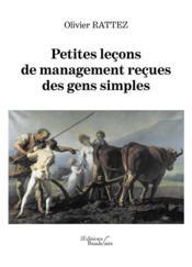 Petites leçons de management reçues des gens simples - Couverture - Format classique