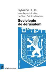 Sociologie de Jérusalem - Couverture - Format classique