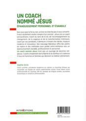 Un coach nommé Jésus ; épanouissement personnel et évangile - 4ème de couverture - Format classique