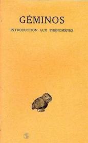Introduction aux phénomènes - Couverture - Format classique