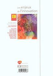 Les Enjeux De L'Innovation - 4ème de couverture - Format classique