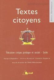 Textes citoyens - Couverture - Format classique
