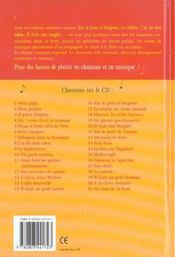 Les Plus Jolies Chansons Enfantines - 4ème de couverture - Format classique