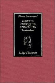 Oeuvres poétiques complètes t.1 - Couverture - Format classique