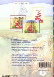 Aquarelle ; paysages - 4ème de couverture - Format classique