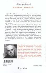 Histoire de la bretagne - 4ème de couverture - Format classique