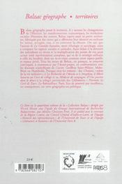 Balzac Geographe - 4ème de couverture - Format classique
