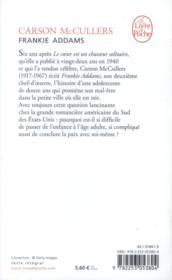 Frankie addams - 4ème de couverture - Format classique