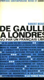 De Gaulle A Londres Vu Par Un Francais - Couverture - Format classique