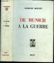De Munich A La Guerre - Couverture - Format classique