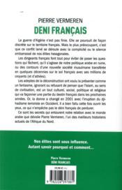 Déni français ; notre histoire secrète des liaisons franco-arabes - 4ème de couverture - Format classique