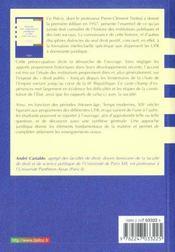 Histoire des institutions publiques et des faits sociaux - 4ème de couverture - Format classique