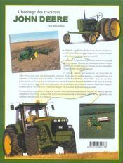 L'heritage des tracteurs john deere - 4ème de couverture - Format classique