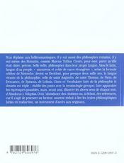 Latin De La Philosophie - 4ème de couverture - Format classique