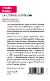 Le Chateau Interieur - 4ème de couverture - Format classique