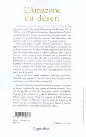 L'Amazone du désert, Gertrude Bell - 4ème de couverture - Format classique