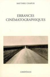 Errances Cinematographiques - Couverture - Format classique