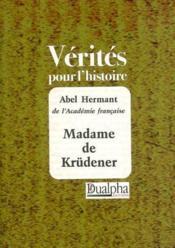 Madame de krudener - Couverture - Format classique