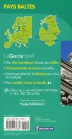 Le Guide Vert ; Pays Baltes ; Estonie, Lettonie, Lituanie - 4ème de couverture - Format classique