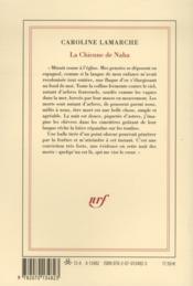 La chienne de Naha - 4ème de couverture - Format classique