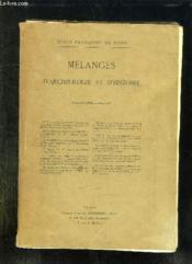 Melanges D Archeologie Et D Histoire. - Couverture - Format classique