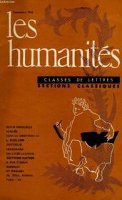 LES HUMANITES, CLASSES DE LETTRES, SECTIONS CLASSIQUES, 42e ANNEE, N° 408, N°1, SEPT. 1960 - Couverture - Format classique