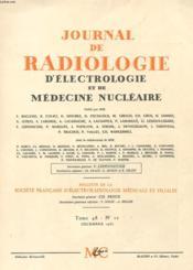 Journal De Radiologie D'Electrologie Et De Medecine Nucleaire - Tome 48 - N°12 - Couverture - Format classique