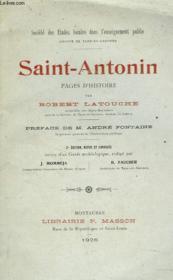 Saint-Antonin. Pages D'Histoire. - Couverture - Format classique