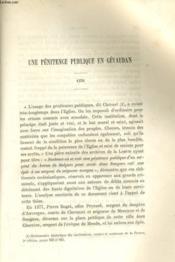 Une Penitence Publique En Gevaudan 1378 / Soumission De La Ville De Saugues A Henri Iv 1594 - Couverture - Format classique