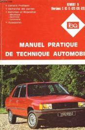 Manuel Pratique De Technique Automobile - Renault 9 - Couverture - Format classique