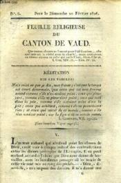 Feuille Religieuse Du Canton De Vaud - Annee 1828. - Couverture - Format classique