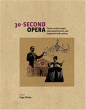 30 second opera - Couverture - Format classique