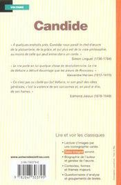 Candide - 4ème de couverture - Format classique