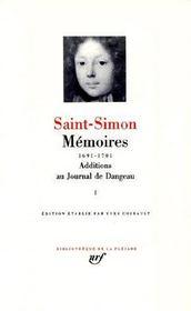 Mémoires, additions au journal de Dangeau t.1 - Intérieur - Format classique