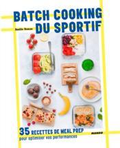 Batch cooking du sportif - Couverture - Format classique