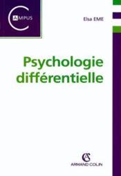 Psychologie differentielle - Couverture - Format classique