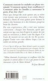 Jusqu'Au Bout Du Chemin ; L'Accompagnement De La Fin, Une Histoire D'Amour - 4ème de couverture - Format classique