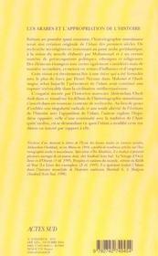 Les Arabes Et L'Appropriation De L'Histoire - 4ème de couverture - Format classique