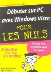 Debuter sur pc avec windows vista pour les nuls - Intérieur - Format classique