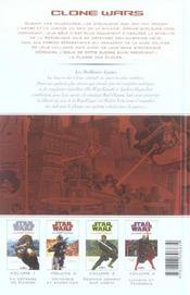 Star Wars - clone wars t.5 ; les meilleurs lames - 4ème de couverture - Format classique
