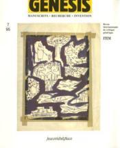Genesis N.7 ; Manuscrits, Recherche, Invention - Couverture - Format classique