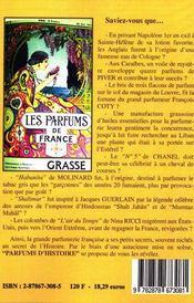 Parfums D'Histoire - 4ème de couverture - Format classique