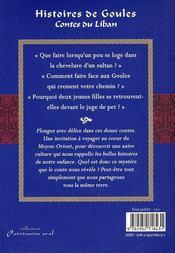 Histoires de goules et autres contes - 4ème de couverture - Format classique