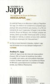 Les mystères de Druon de Brévaux ; Aesculapius - 4ème de couverture - Format classique