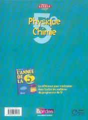 Phys chimie 5e espace college - 4ème de couverture - Format classique