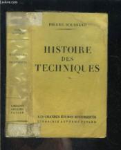 Histoire Des Techniques - Couverture - Format classique