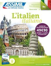 L'italien/italiano ; B2 ; débutants & faux débutants - Couverture - Format classique